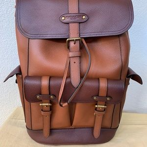 NWT COACH ' Hudson ' Backpack in Colorblock F49543